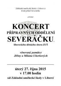 plakát 1. koncert přípravek říjen 2015